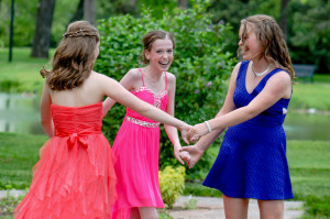Laurel and Friends dancing in the park before the Dance.